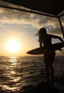 surfing in Madagascar sunset surf