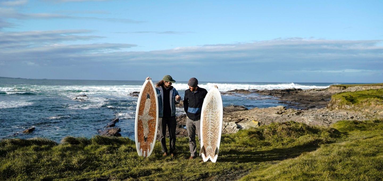 Taylor Lane and Ben Judkins Cigarette Surfboard