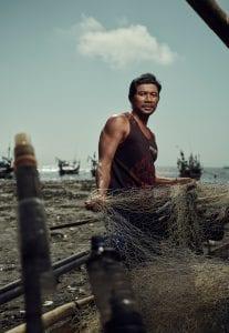 Tom Barnes Indonesia fishing net