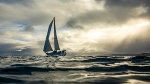 elixir boat ocean sailing sunset