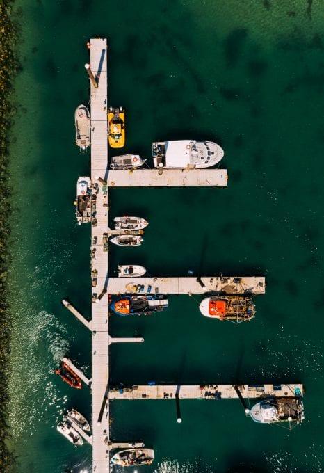 Jersey fishermen fishing boats