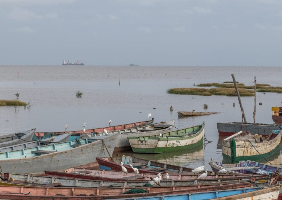 Guyana World Bank Big Oil offshore drilling fishing boats