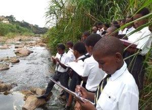School trip Threatened Amphibian Programme Dr Jeanne Tarrant Endangered Wildlife Trust