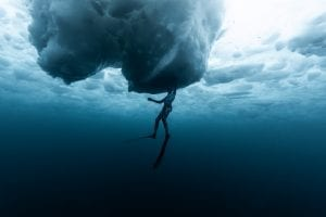 Ice diving, Canada, freediving