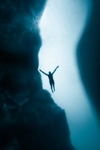 Ice diving, freediving, Canada