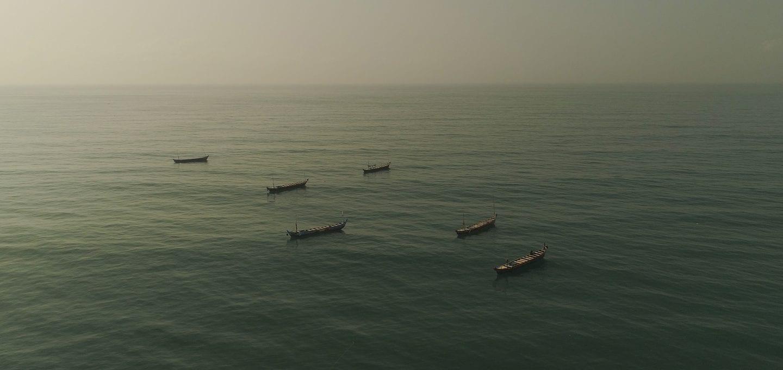 Saiko Ghana Environmental Justice Foundation canoes at sea