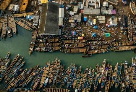 Saiko Ghana Environmental Justice Foundation canoes