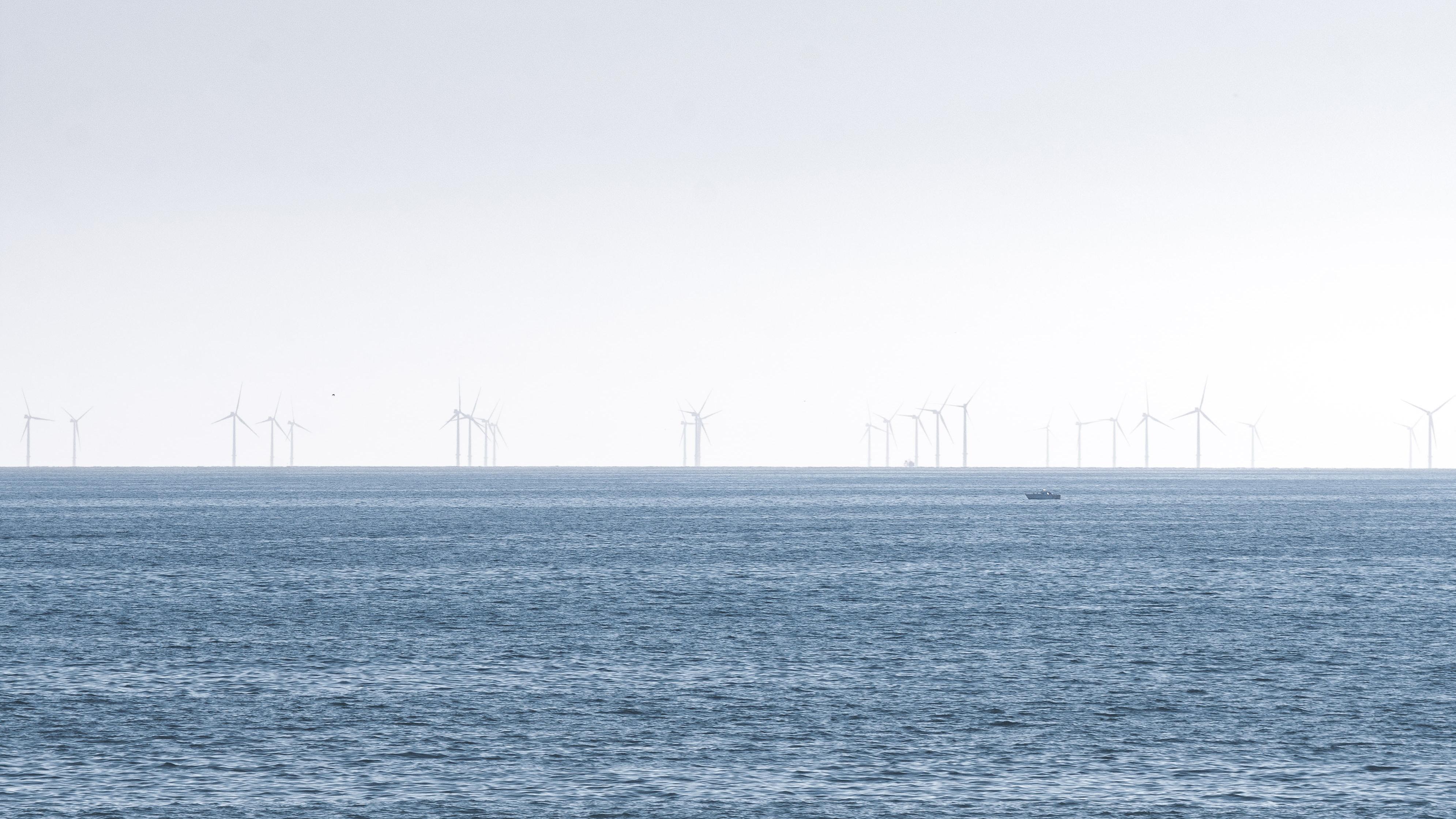 Offshore wind farm, Brighton, UK