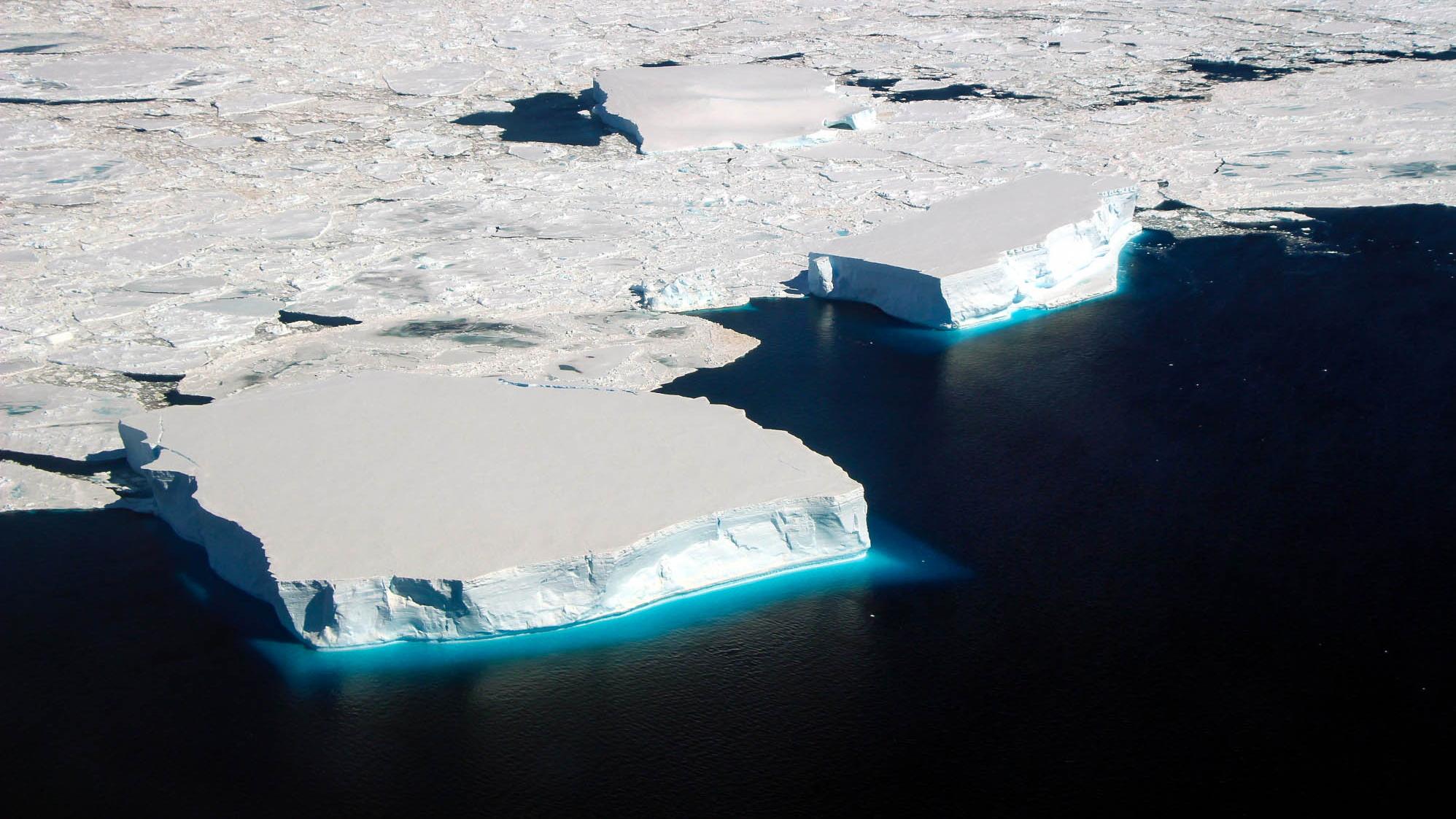 Weddell Sea ice, NASA