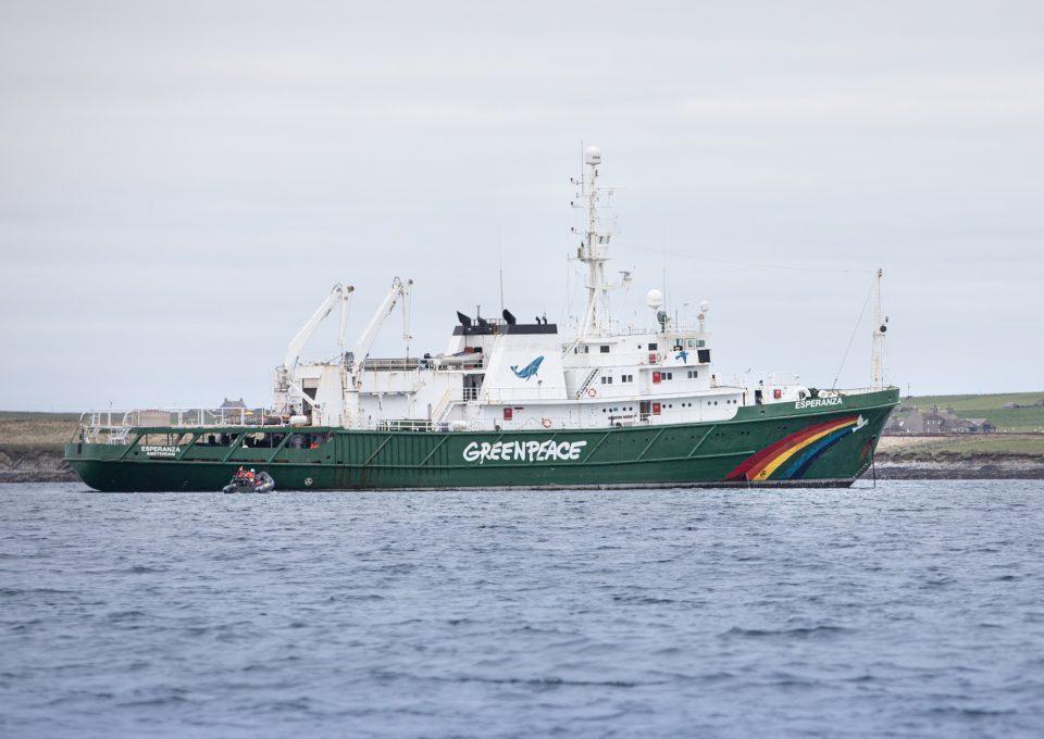 Greenpeace Dogger Bank MPA illegal trawling Esperanza