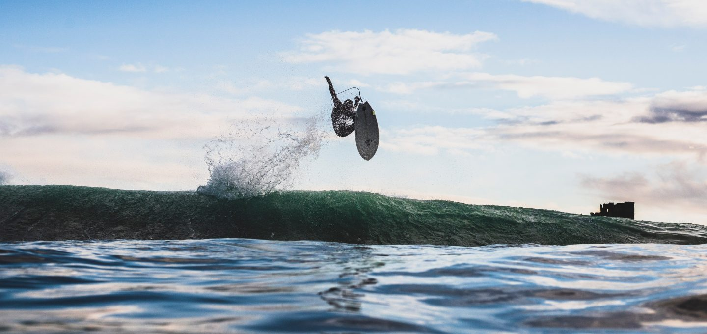 ACOTE extreme surfing iceland jump