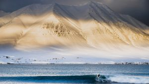 ACOTE extreme surfing iceland snow