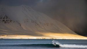 ACOTE extreme surfing iceland ice snow