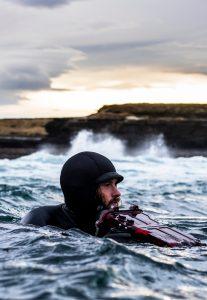 ACOTE extreme surfing iceland underwater filming