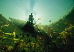A Bayei fisherman, Botswana, David Doubilet, Behind the lens, Oceanographic Magazine, Issue 17