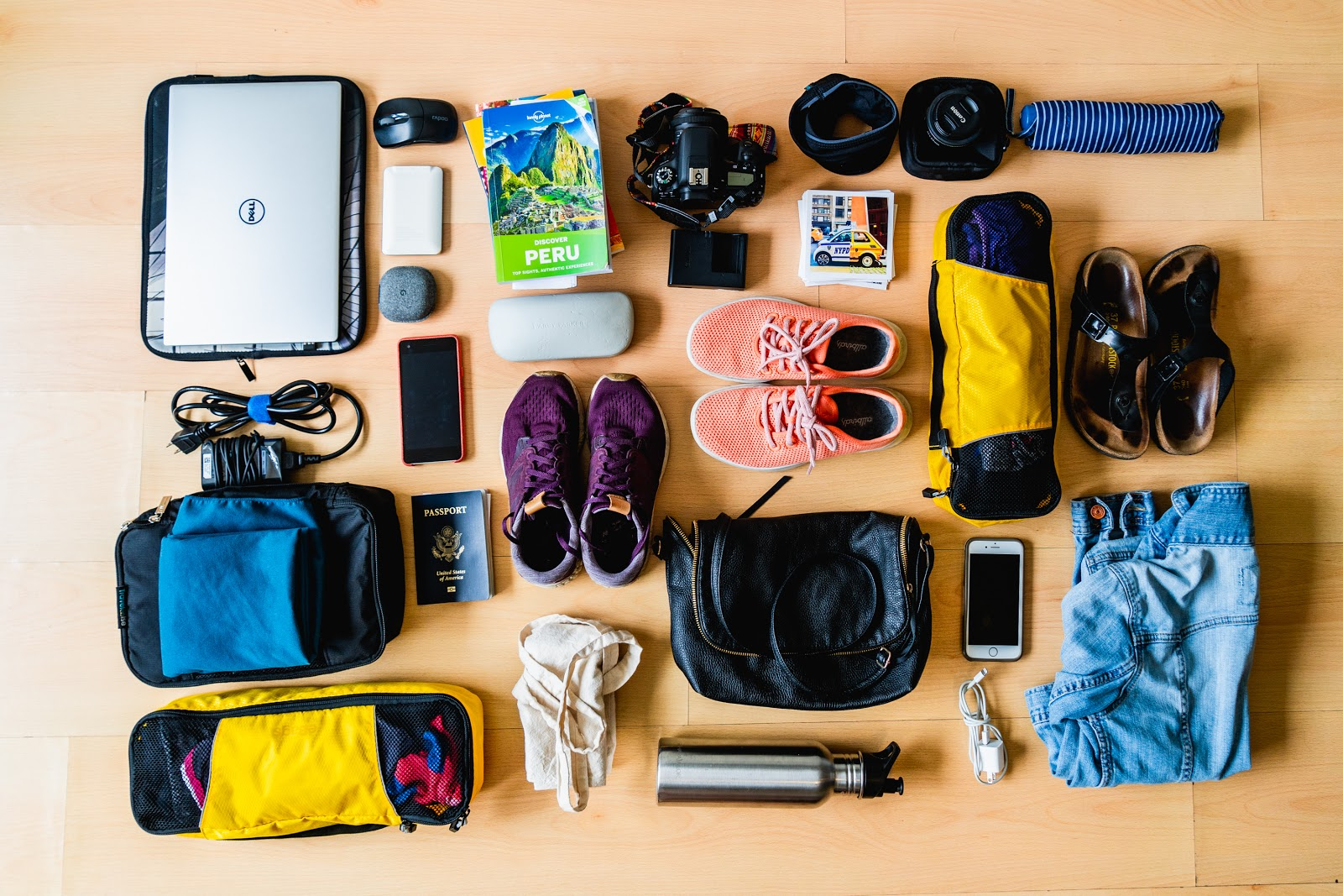 packing for remote work, what to take on the road with you as a creative