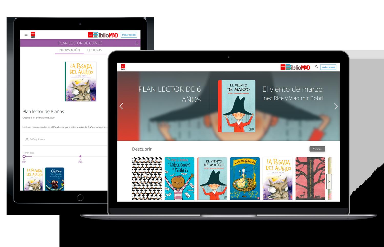 Bibliomad es la plataforma desarrollada por ODILO que ofrece planes lectores digitales a todos los colegios de madrid