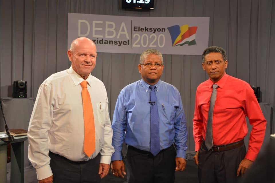Les  trois candidats à l'élection présidentielle lors du dernier débat © Danny Faure