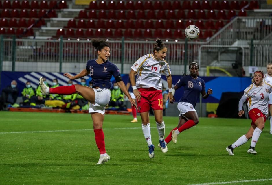 Football: La Réunionnaise Valérie Gauvin signe le but le plus rapide de l'histoire des Bleues