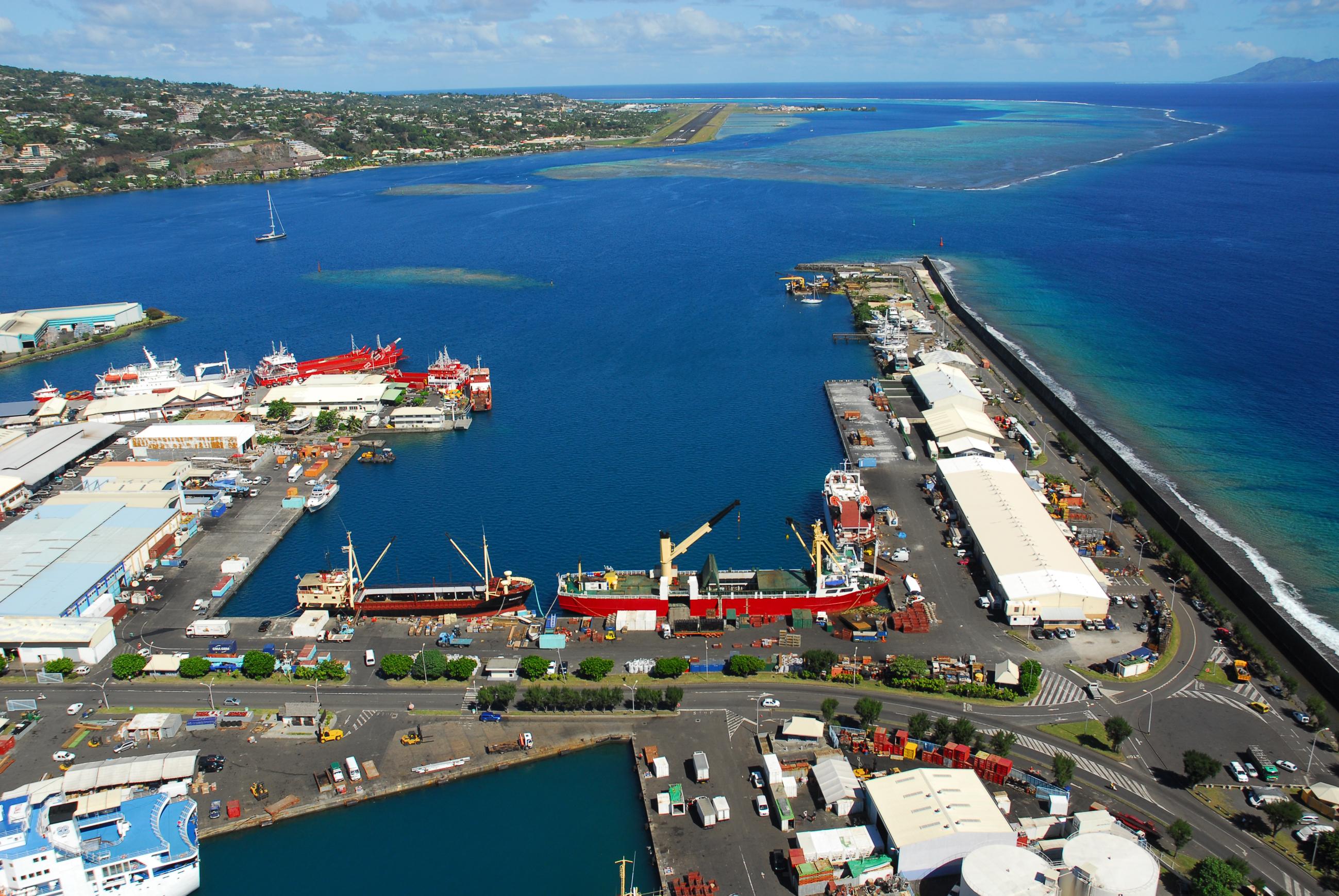 Quai du commerce inter-insulaire ©Port autonome de Papeete