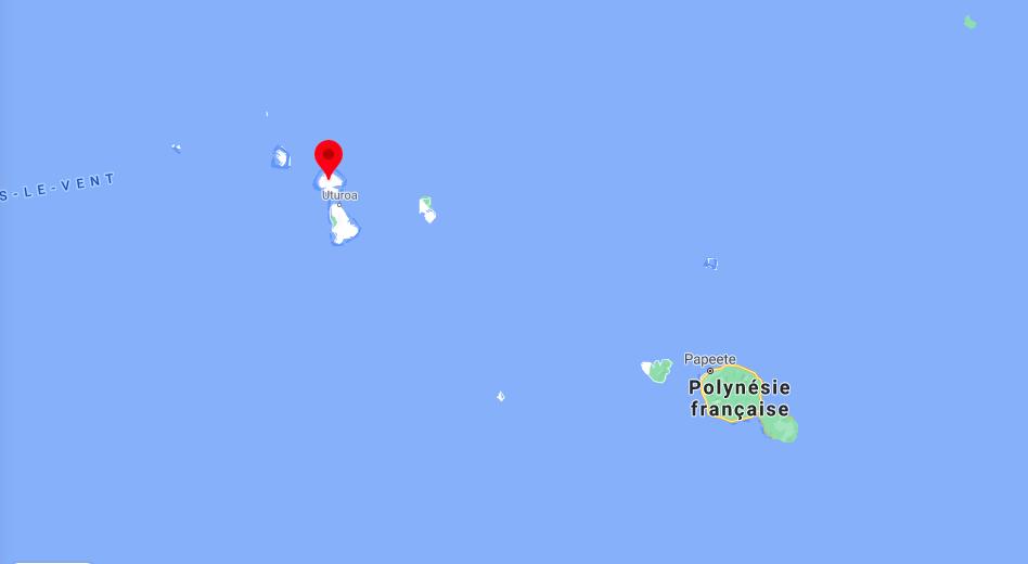 L'Île de Taha'a, qui partage son lagon avec Ra'iatea, est située à 220 km au nord ouest de Tahiti