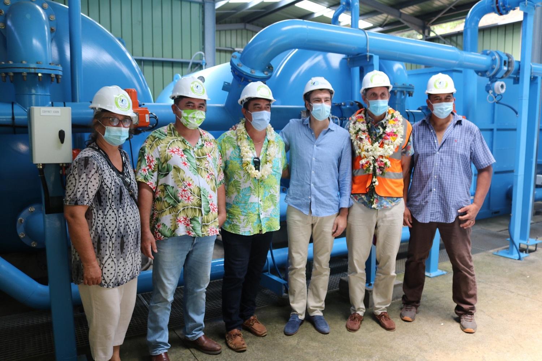 Polynésie : Après Bora Bora, Suez Eau France visite les ouvrages hydrauliques de l'île de Moorea