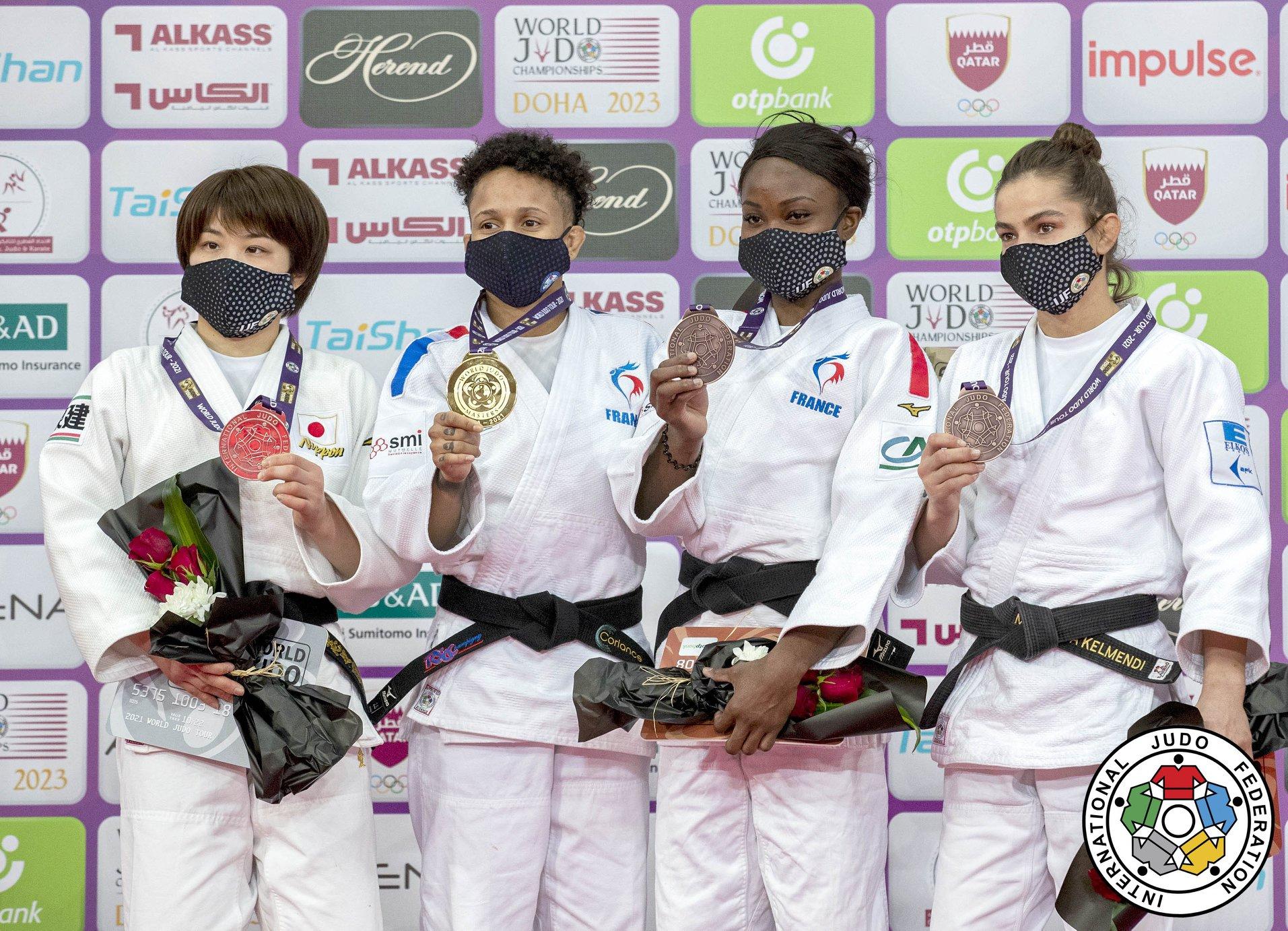 Judo: La Martiniquaise Amandine Buchard en or, la Guadeloupéenne Sarah-Léonie Cysique obtient l'argent aux Masters de Doha