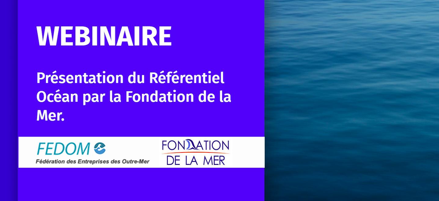 La Fedom et la Fondation de la mer proposent un Webinaire sur le « référentiel Océan » des entreprises