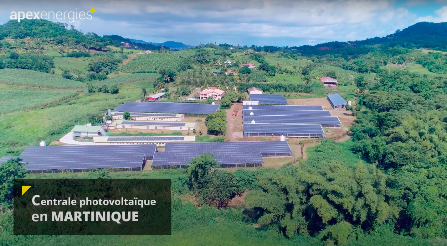 Installation de la plus grande centrale photovoltaïque sur toiture en Martinique