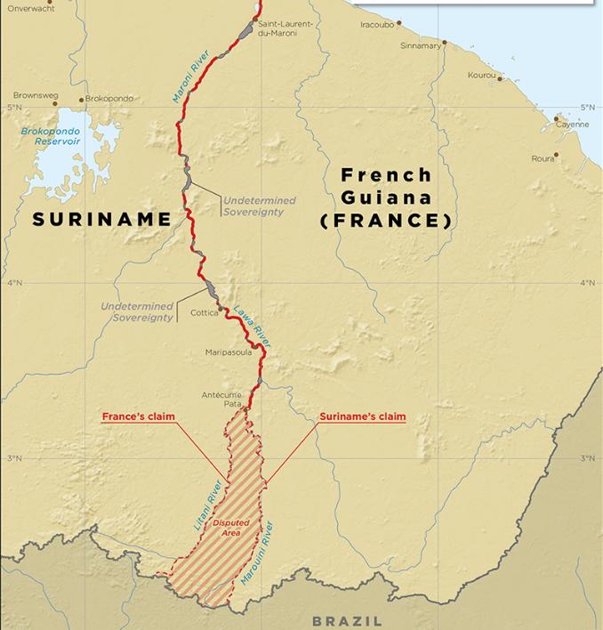La France et le Suriname concluent un accord de délimitation de frontière