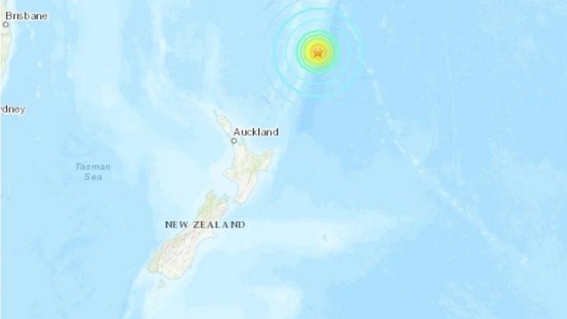 L'épicentre du séisme était situé au large nord de la Nouvelle-Zélande