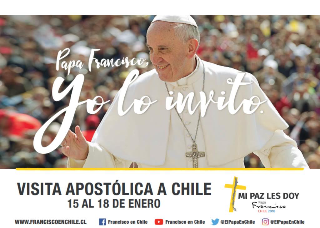Lugares y fechas del Papa Francisco en Chile