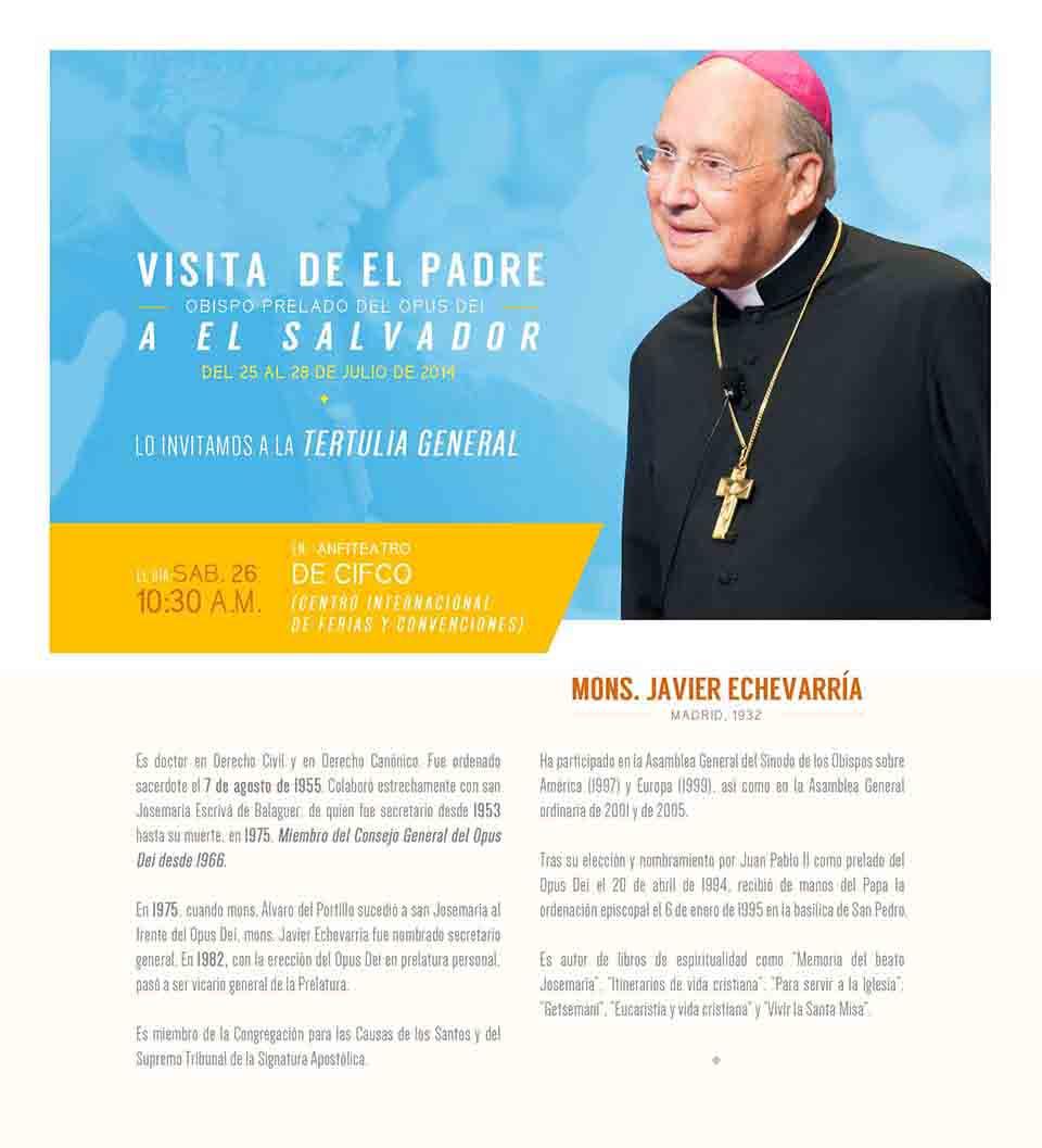 Visita del Prelado del Opus Dei a El Salvador.