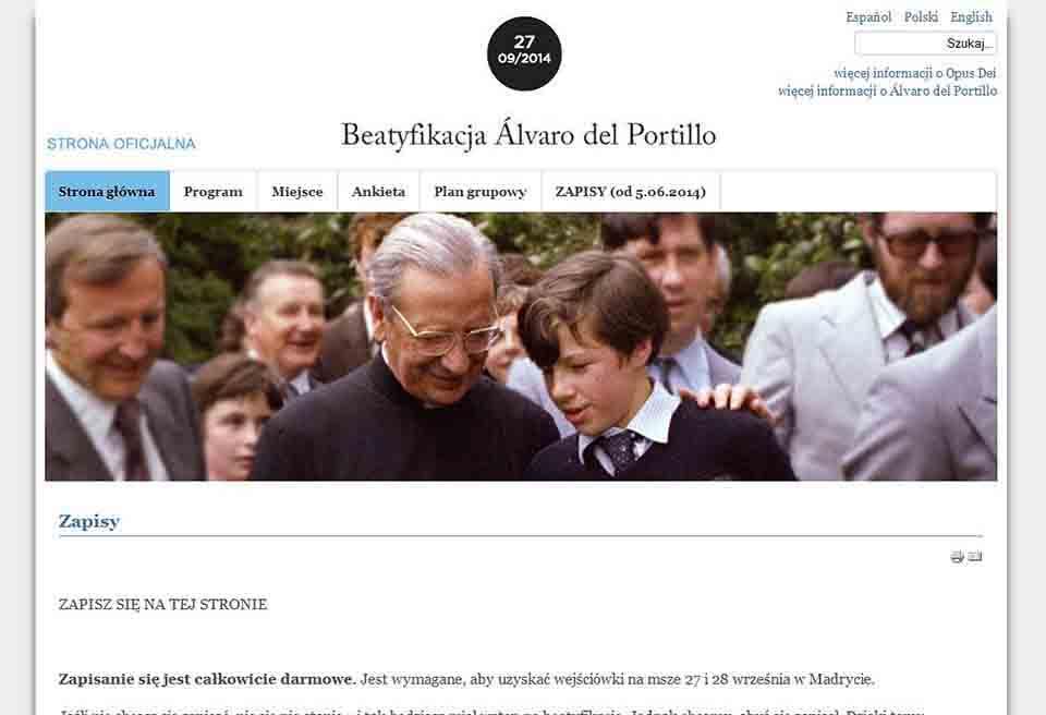 Przydatne informacje o beatyfikacji don Alvaro