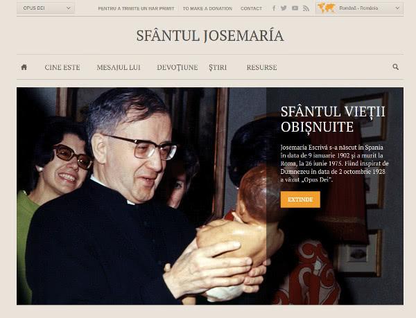 Site-ul Sfântului Josemaría