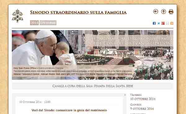 Website oficial del Sínodo