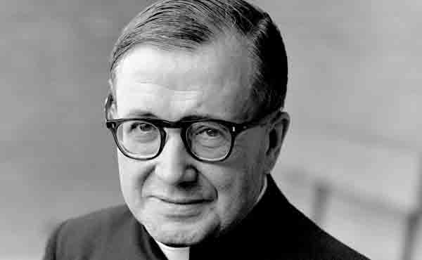 Prayer card for Saint Josemaria