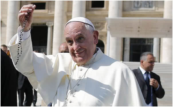 """""""Generously support the Pope's petition to pray the Rosary"""""""