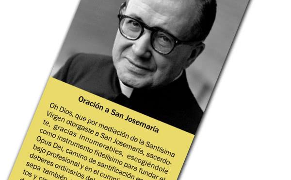 L'immagine devozionale ufficiale di san Josemaría