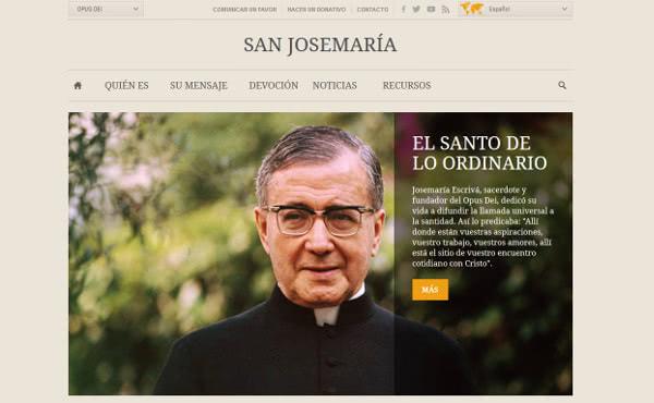 El website de san Josemaría