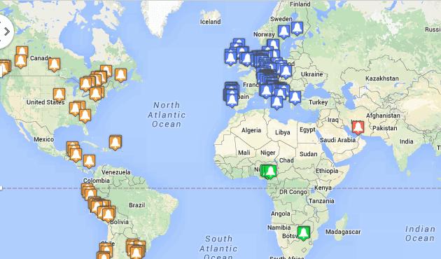 Misas de san Josemaría en el mundo