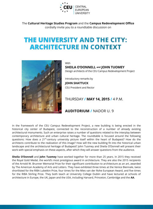 The University and The City: Architecture in Context