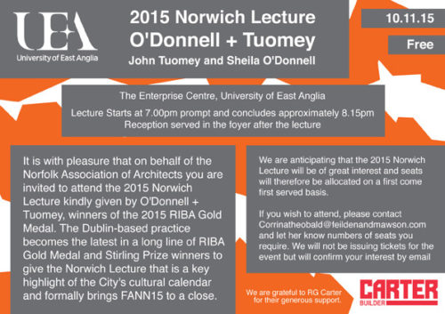 Lecture in Norwich 10.11.2015