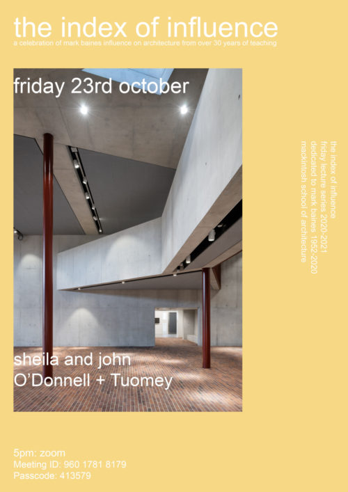 Mackintosh School of Architecture Lecture 23.10.2020