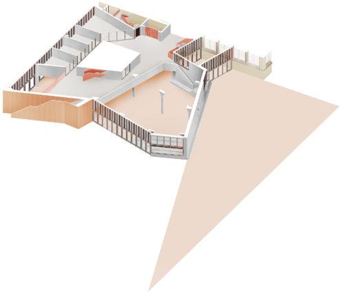 Cutaway plan: concrete structure