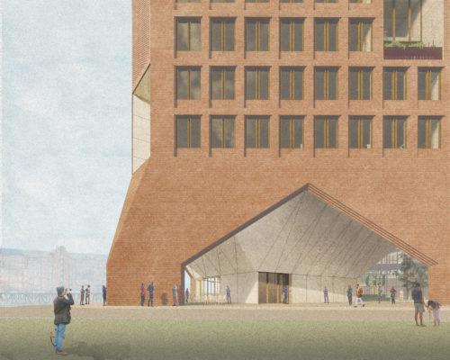 Gruner + Jahr headquarters: entrance arch