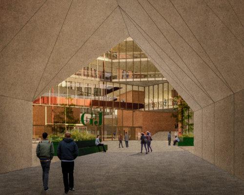 Gruner + Jahr headquarters: under the arch
