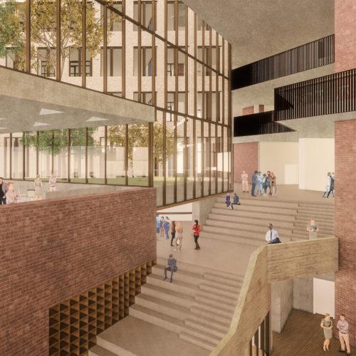 Gruner + Jahr headquarters: foyer view