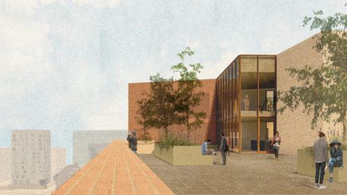 Gruner + Jahr headquarters: roof garden