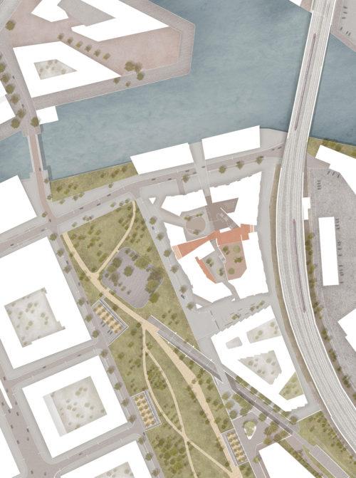 Gruner + Jahr headquarters: site plan